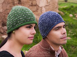 Striped Alpaca Hat