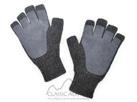 Alpaca Half Finger Double Layer Driving Gloves