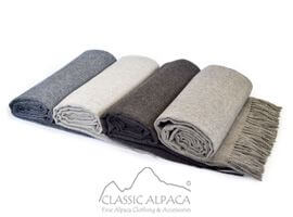 Woven & Brushed Royal Alpaca Throw