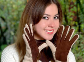 Alpaca Double Layer Driving Gloves