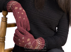 Alpaca Embroidered Bohemian Gloves