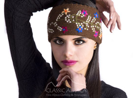 Alpaca Embroidered Headband