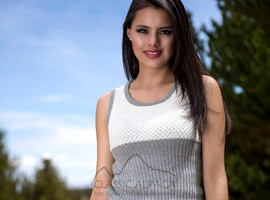 Cotton Baby Alpaca Ribbed Knit Tank Top