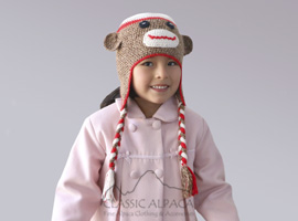 Alpaca Kids - Funny Monkey Hat with Ear Flaps