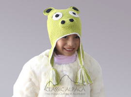 Alpaca Kids - Piggy Hat with Ear Flaps