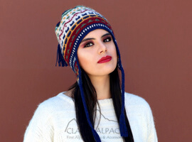 Colourful Brushed Alpaca Hat with Ear Flaps