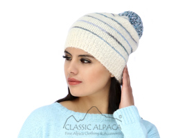 Brushed Striped Alpaca Hat