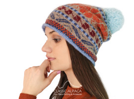 Aqua Brushed Alpaca Hat