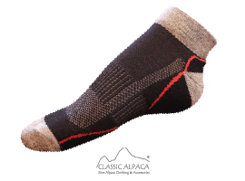 Unisex Shorty Athletic Alpaca Socks