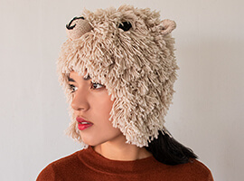 Cute Alpaca Hat with Ear Flaps