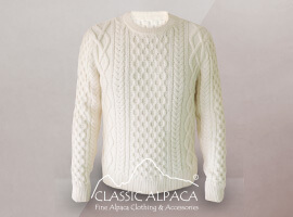 Men's Alpaca Crewneck Pullover Sweater
