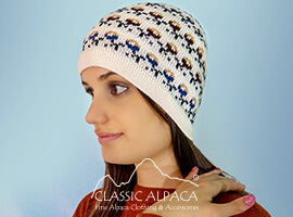 Wanchaq Alpaca Knit Hat - Fleece Lining