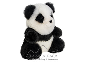 Baby Alpaca Fur - Panda Bear Ornament 11""