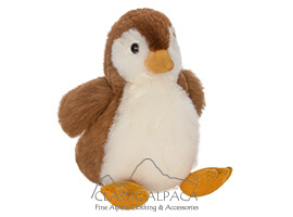 Baby Alpaca Fur - Penguin Ornament 13""
