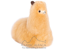 BABY Alpaca Fur - Peruvian Cushing Ornament 9""