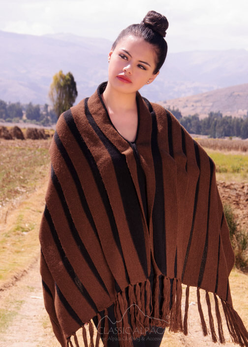 Two-in-One Poncho & Shawl Alpaca