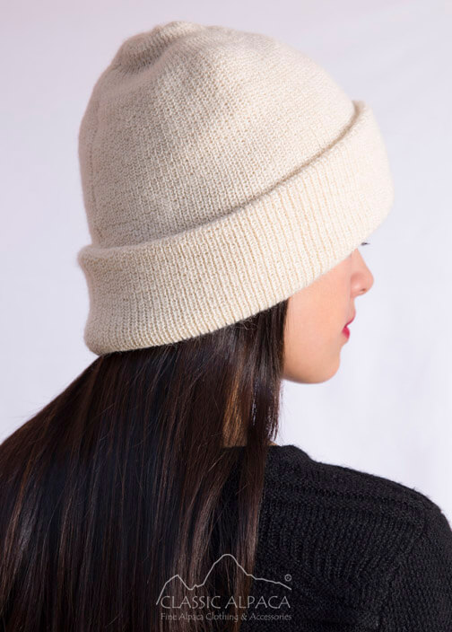 Women's Double Knit English Alpaca Hat