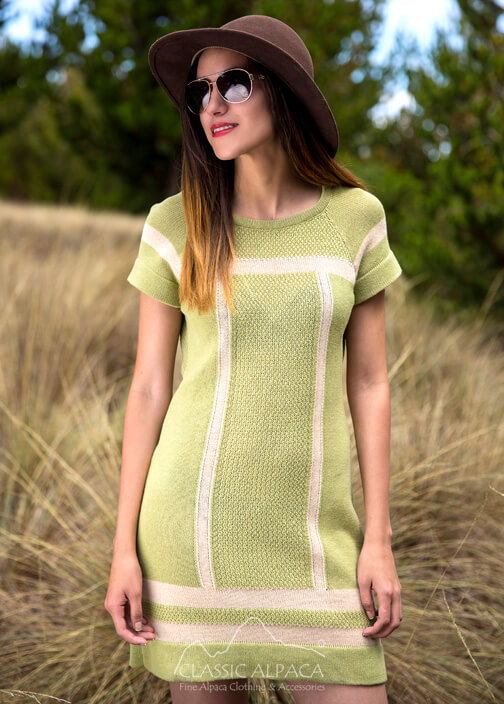 Cotton Baby Alpaca  Fitted Mini Dress