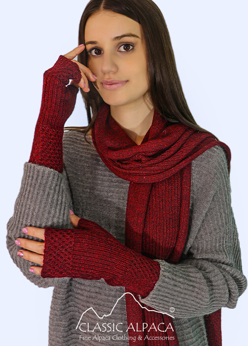 Bohemia Baby Alpaca Fingerless Gloves