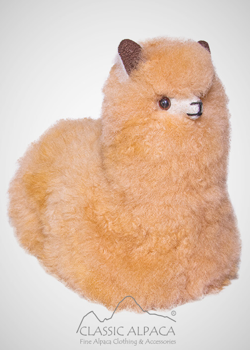BABY Alpaca Fur - Cute Peruvian Sitting Ornament