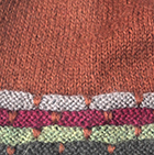 Justin Striped Alpaca Hat in Dk. Rust-Multicolor