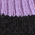 Tassel Baby Alpaca Fingerless Gloves in Charcoal.-Lavender
