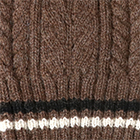 Angelle Alpaca Knit Fingerless Gloves in Brown Heather