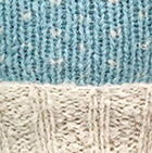American Brushed Alpaca Hat in Comb. Aqua-Natural