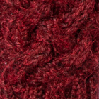 Shadow Cable Alpaca Scarf in Burgundy Mlge.