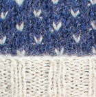 American Brushed Alpaca Hat in Comb 1. Prussian Blue-Natural