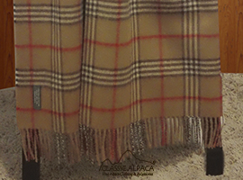 Woven & Brushed Scottish Baby Alpaca Throw
